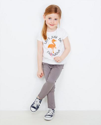 T-shirt met flamingo